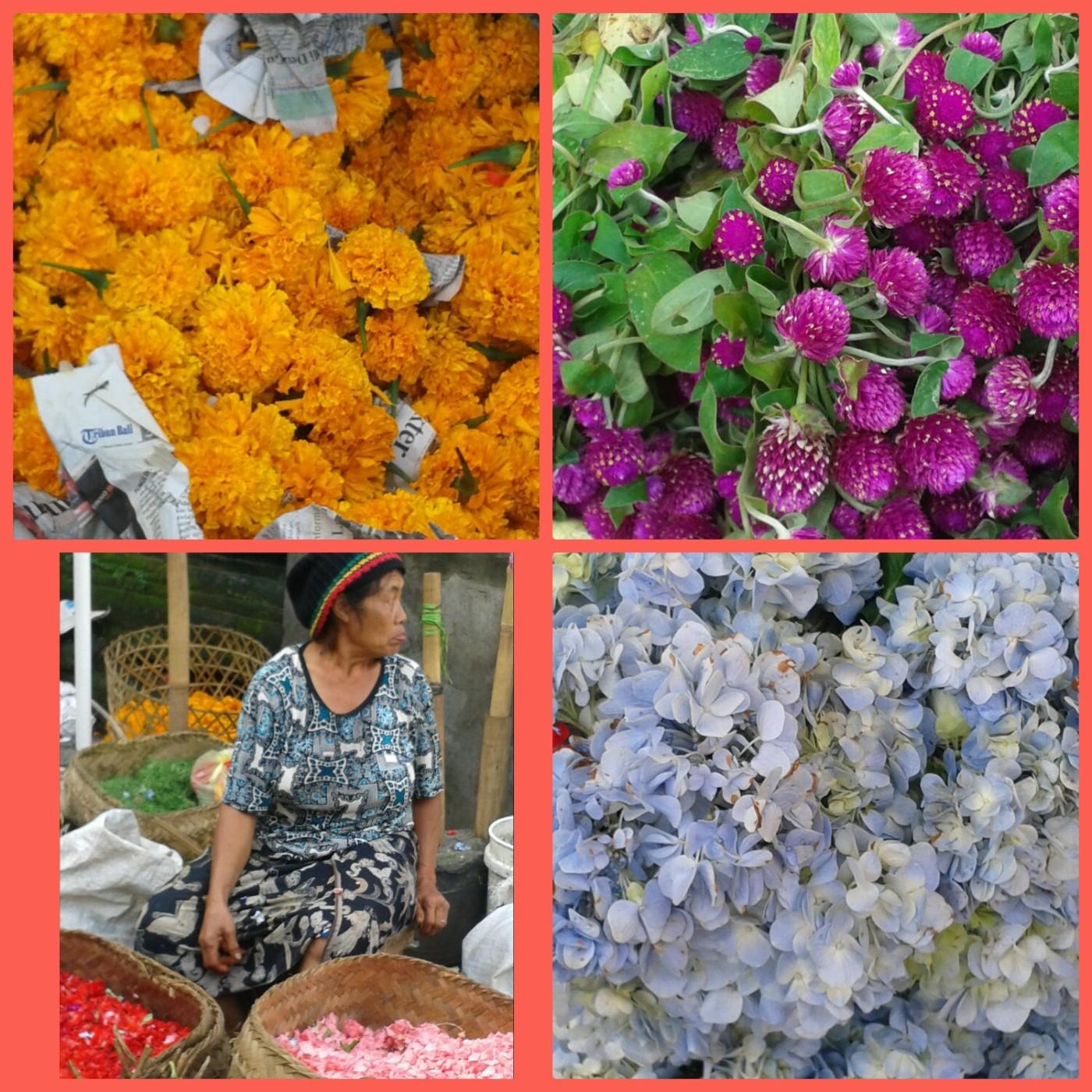 Des fleurs pour les offrandes