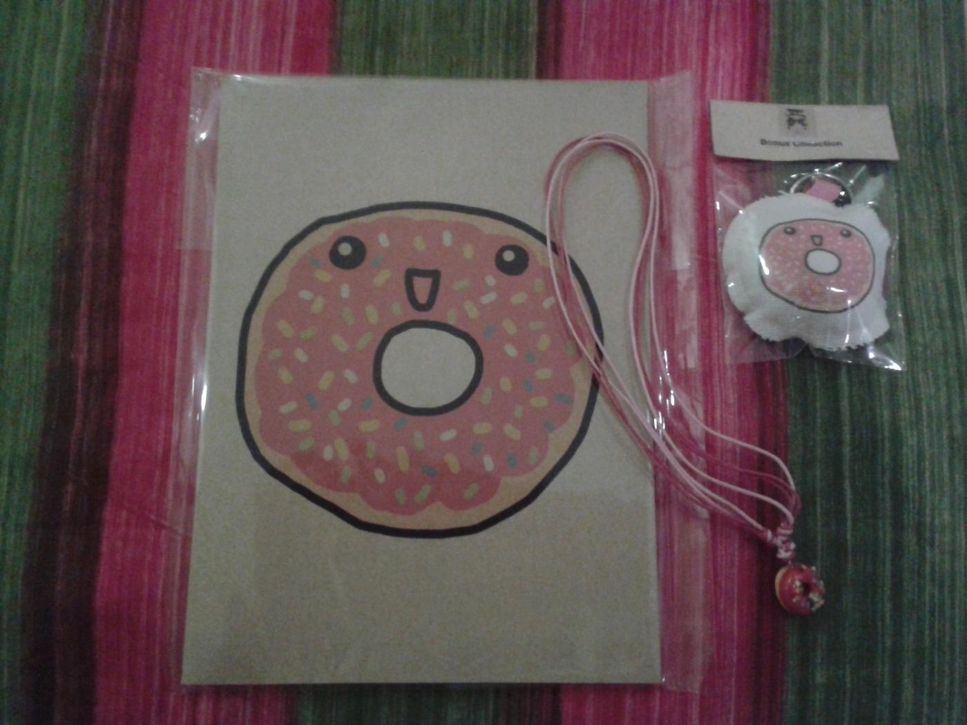 Donut cahier collier porte clé